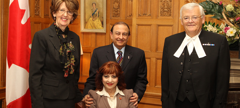Official appointment to the Senate of Canada