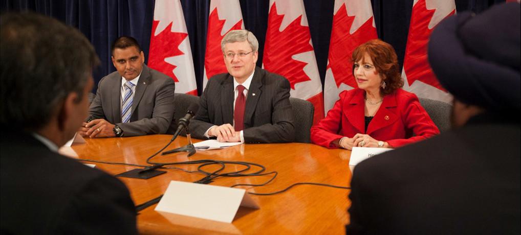 Senator Asha Seth participates in roundtable in Toronto