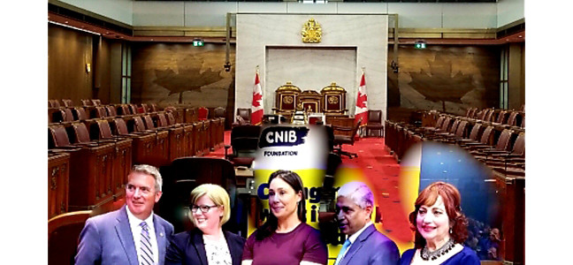 6th Annual National Vision Health Month celebrated in Parliament with emphasis on CNIB's Guide Dog Program and International efforts.